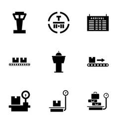9 terminal icons vector