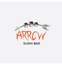 Arrrow sushi bar restaurant vector