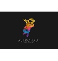 Astronaut logo Colorful logo Grunge slyle vector