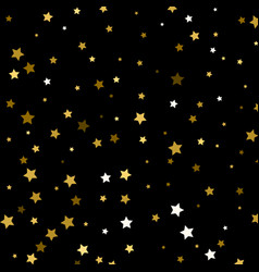 background with gold stars gold stars on black vector image