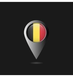 Belgium flag pointer vector image