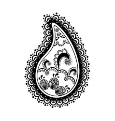 black and white lace buta decoration item on vector image
