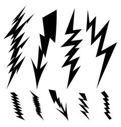 black lightning vector image