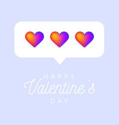card or flyer valentine rainbow heart like vector image