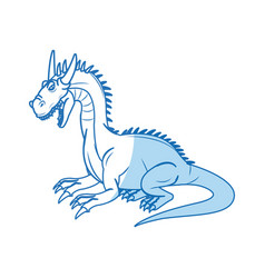 Character dragon fantasy animal design vector