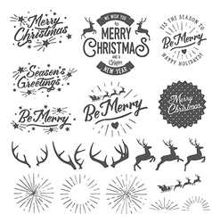 Christmas photo overlays and design elements vector image