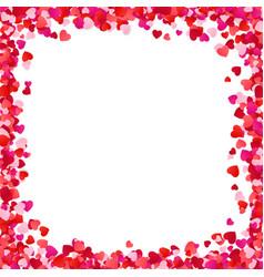 color paper heart frame background heart frame vector image