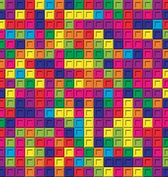 Colorful square bricks mosaic seamless pattern vector