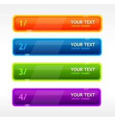 Colorful text button vector