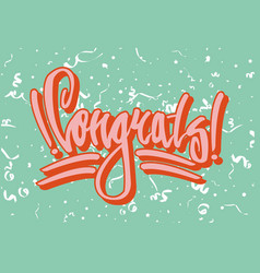 Congratulation street style graffiti on green vector