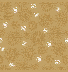 craft natural star and snowflakes seamless pattern vector image