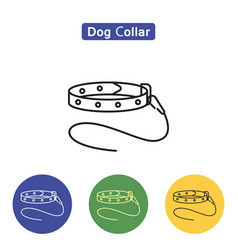 Dog collar line icon vector