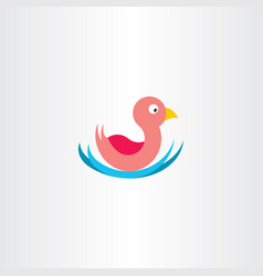 Duck in water icon symbol vector