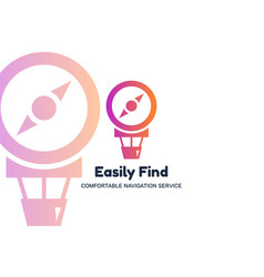 Easily find flat logo template vector