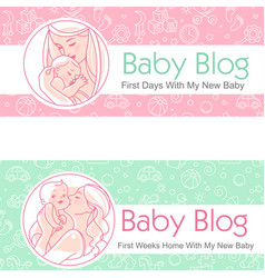 For blog mother and batogether vector