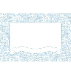 Frame with city pattern vector image