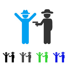 Gentleman crime flat icon vector