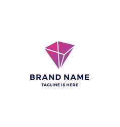 Geometric prism logo blockchain bitcoin ethereum vector