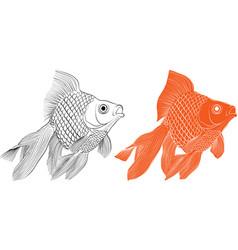 Golden fish-01 vector