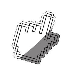 Hand pointer computer vector