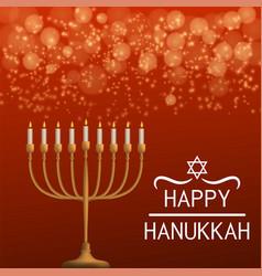 happy hanukkah concept background realistic style vector image