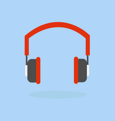 headphone icon listening to music concept vector image