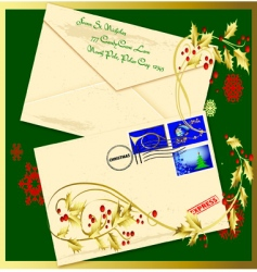 Holiday envelope vector