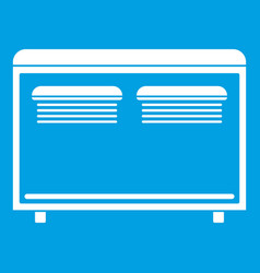 Home equipment for heating icon white vector