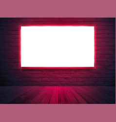 illuminated light box screen mockup poster banner vector image