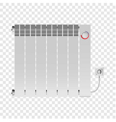 Interior heater mockup realistic style vector