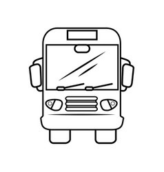 Isolated bus truck vector