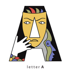 letter a with masks vector image