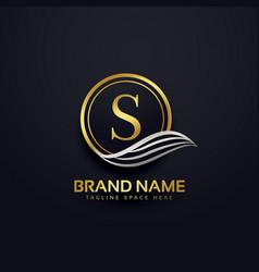 Letter s creative premium logo design vector