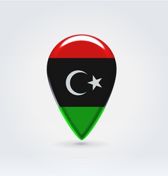 Libyan icon point for map vector image