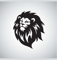 Lion head cool logo design vector