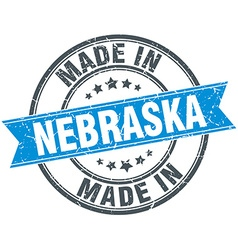 Made in Nebraska blue round vintage stamp vector