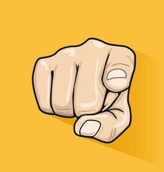 Male hand pointing finger at you vector