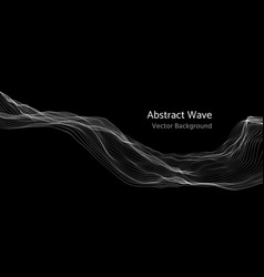 Mesh network 3d abstract wave and particles vector