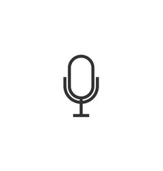 microphone icon design template vector image