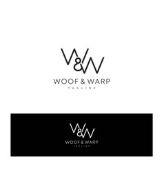 modern and luxurious w w letter initial logo vector image
