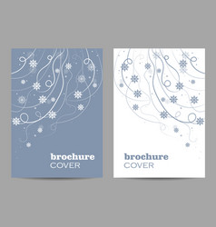modern brochure cover design beautiful winter vector image