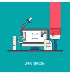 modern thin line flat design vector image