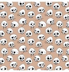 mustache skulls pattern vector image