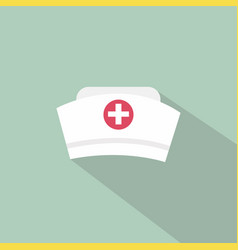 Nurse hat icon vector