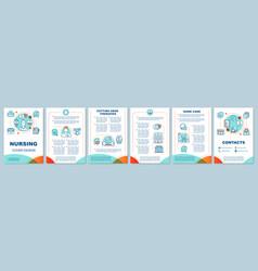 Nursing brochure template layout vector