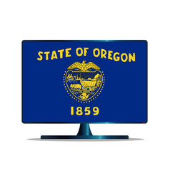 Oregon flag tv vector