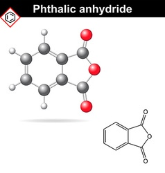 Phthalic anhydride molecule vector image