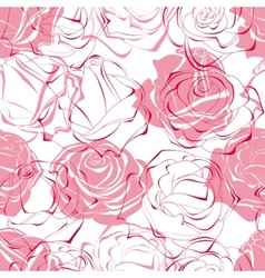 pink roses seamless pattern vector image