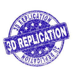 Scratched textured 3d replication stamp seal vector