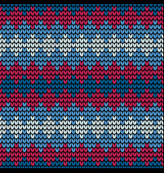 seamless blue squares knitting vector image